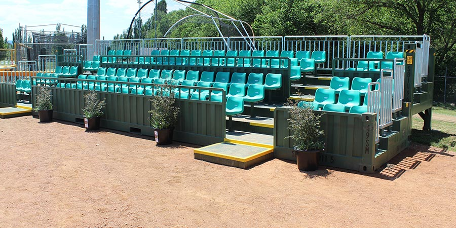 40FT CONTAINERISED GRANDSTAND SEATING